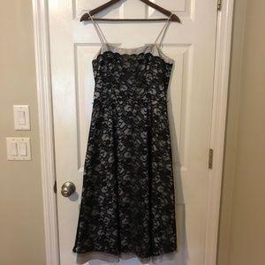 White House Black Market Black Lace Formal Dress